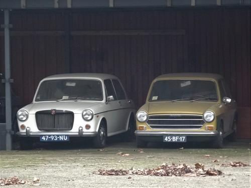 1970 MG 1300 and 1974 Austin 1100
