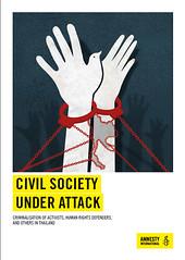 ภาพหน้าปกรายงาน civil society under attack