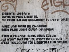 LIBERTE (Anne-Christelle) Tags: mots phrases liberté de rue graffitis rennes