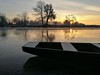First sunrise in 2017 on the river (malioli) Tags: svitanjerijekaledzamrznutomrazosvitsunce sunrize down sun river water tree boat riverside croatia europe hrvatska katlovac korana