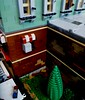 Brickvention 2017 Display (LonnieCadet) Tags: brick brickvention bricklink moc model modern modular building metropolitan fire cfa mfb av ambulance police vp australia victoria road store shop railway helicopter dauphin eurocopter structure collapse broken roof response station greensborough