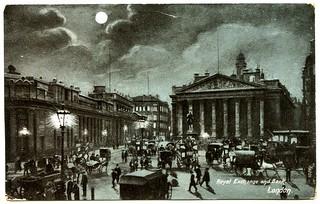 Royal exchange and Bank, London (1904)