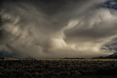stop...look...run... (Alvin Harp) Tags: nevada us95 january 2017 winterstorm stormclouds mountainrange fence sonyilce7rm2 fe24240mm dramaticclouds alvinharp