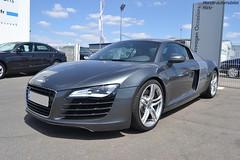 Audi R8 (Monde-Auto Passion Photos) Tags: auto automobile voiture véhicule audi r8 v8 coupé gris france villemandeur supercar sportive