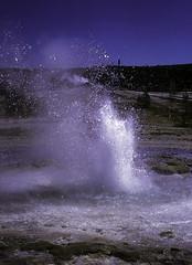 Sawmill Geyser (woodchuckiam) Tags: sawmillgeyser uppergeyserbasin yellowstonenationalpark wyoming sawmillcomplex geyser eruption whirringsound water droplets basin scenic landscape woodchuckiam