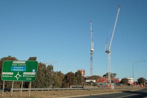 Infinity Towers cranes