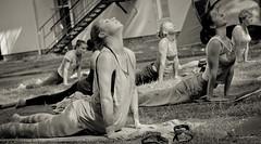 IMG_3057 (bobobahmat) Tags: summer portrait people bw woman white black sexy girl monochrome smile face sport yoga pose eyes outdoor group lviv ukraine gymnastics ukrainian lvov bnw asanas briukhovychi