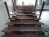 Going up (Home Land & Sea) Tags: newzealand art stairs aquarium decorative nz napier pointshoot sonycybershot hawkesbay gorman divingsuit siebe nationalaquariumofnewzealand australianwaterdragon stairriser homelandsea dschx100v