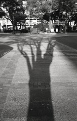 The shadow (hakudai) Tags: film monochrome japan nikon yokohama acros fe2