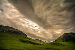 Arc cloud. (AlbOst) Tags: mountains clouds scotland warm glenetive scottishhighlands cloudformations arccloud laquintaessenza thunderyweather
