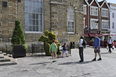 Gilbert the dragon (dawn.v) Tags: uk summer england plants july salisbury publicart wiltshire marketsquare 2015 thebaronschartersalisbury2015 gilbertthedragon