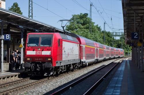 146 023 Arrives at Remagen