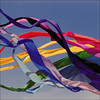 summer (me*voilà) Tags: kite abstract colours bands fabric onblue