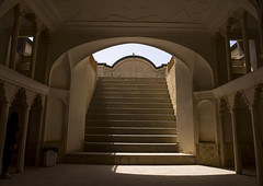 Tabatabaei Historical House Lower Ground, Isfahan Province, Kashan, Iran (Eric Lafforgue) Tags: horizontal stairs photography asia iran persia nobody nopeople indoors orient kashan kachan   colourimage  iro isfahanprovince   iran150774