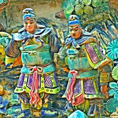 Ceramic Warriors, Banciao 073015 #temple  #art #Chinese  #warriors  #ceramic #culture #Taiwan #jezevec (Badger 23 / jezevec) Tags: square roc taiwan squareformat formosa  kina  2015  republicofchina  instaart  republikken  tajwan  tchajwan   iloan  iphoneography republikchina thivn  taivna tavan   instagram instagramapp uploaded:by=instagram instataiwan