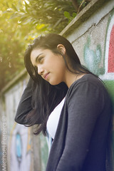 Nicol (Michael Pereira Pereira) Tags: chile light sunset portrait sun sol canon atardecer 50mm michael nice dof bokeh retrato ps t3 f18 18 dibujo cabello lightroom arauco pereira rayado nicol 1100d