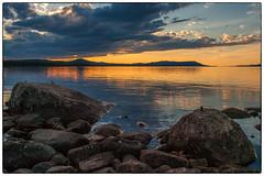 Lakeside Sunset #1 (Krogen) Tags: summer nature norway landscape norge sommer natur july norwegen noruega juli scandinavia krogen waterscape landskap noorwegen noreg hedmark skandinavia femunden engerdal olympuse3