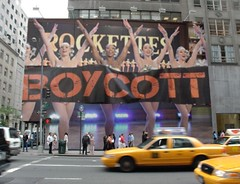 """#Boycott #Rockettes """"proud to perform"""" for the pussy grabbing leader! #Trump #NotMyPresident not my values! (TheatreChat) Tags: boycott rockettes trump notmypresident"""