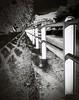 Next to the river (kallchar) Tags: art river rails railing metallic metal shadows trees mountain nature blackandwhite blackwhite white ground land landscape flickr agreatcapture olympusomdem10 olympus