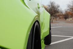 Subaru Fitment. (josiah wadley (undercoverwookiee)) Tags: subaru fitment lime green sti technica international rocket bunny widebody deep dish wheels