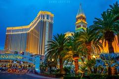 Las Vegas in evening (dannygreyton) Tags: lasvegas city citylights architecture nevada venetian vacation travel palmtree