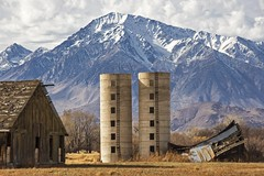Happy New Year To All! (socaltoto11) Tags: sierranevadamtrange bishopcalifornia abandonedbarns silos californiamountainranges california westernmountainranges snowcappedmountains cold californiahistory canonphotography westcoast mountains