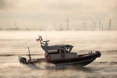 9M Interceptor through the fog (MetalCraft Marine) Tags: interceptor 9m metalcraft fire aluminum nyack marine rhib patrol rescue rib