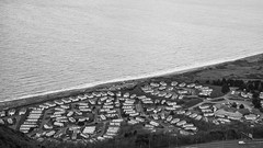 Prime location - Conwy, N Wales (Bon Espoir Photography) Tags: conwy northwales wales aerialview staticcaravans mobileshomes sea coast a55 blackandwhite nikond750