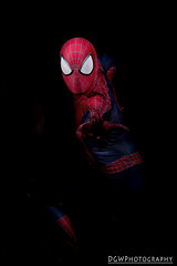 Spider man, spider man.  Does whatever a spider can... (dgwphotography) Tags: spiderman cosplay nycc nycc2016 newyorkcomiccon marvel marvelcomics 50mmf18g nikond600 nikoncls portrait