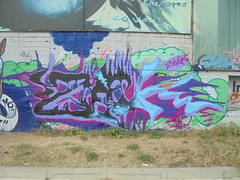 251 (en-ri) Tags: zoek zam nero lilla viola torino wall muro graffiti writing parco dora
