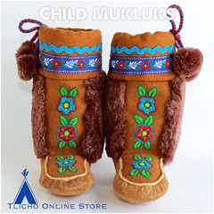Child #mukluks by the Whatì Sewing Group now available on http://onlinestore.tlicho.ca #buynative (Tlicho Online Store) Tags: mukluks buynative