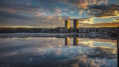 Sjövikskajen, Liljeholmen/Hägersten (photomatic.se) Tags: ifttt 500px panoramic årsta liljeholmen sweden stockholm water ice reflection sunset