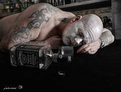 (peter arris fine art photography) Tags: 20mm17 gx7 lumix clown jackdaniels drunk