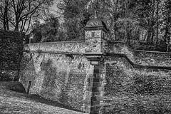 Stadtrundgang - Befestigungsmauer Zitadelle (J.Weyerhäuser) Tags: mainz altstadt zitadell erker mauer hdr