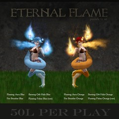 Cole's Corner - Eternal Flame (ColeMarie Soleil (Cole's Corner)) Tags: fantasy gacha carnival secondlife sl coles corner particles special effects kitsune fire fox magic surreal eternal flame