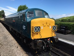45060 xb TO Sherwood Forester, Williton (daveymills31294) Tags: west peak railway somerset class 45 d100 450 forester sherwood wsr williton 45060