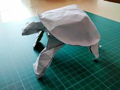 Tortoise (corvo_nero) Tags: paper origami tortoise tartaruga hung nguyen cuong tissuefoil