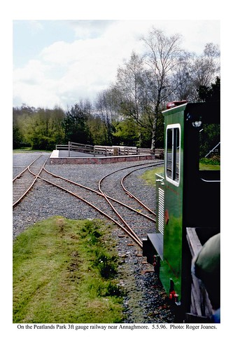Peatlands railway, 3ft gauge, near Dungannon. 5.5.96