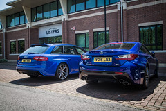 RCF and RS4 (Listers Group) Tags: listers automotive car vehicle event audi birmingham solihull stratford coventry nuneaton bmv honda skoda toyota jaguar landrover