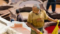 150607121507 (a krambrich) Tags: leather work morocco fez medina marokko fes tannery fs chouara