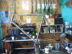 Frame all ready (Bantam Bicycle Works) Tags: bike bicycle real is steel ss rando frame works custom bantam lugs randonneur lugged couplers