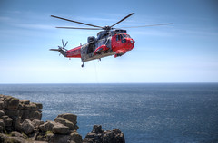 Lands End Royal Navy Helicopter (Rachael Webster UK) Tags: holiday colour june canon high rocks cornwall break dynamic landmark tourist helicopter landsend range hdr attraction subtle royalnavy 2015 650d subtlehdr canon650d june2015