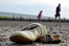 Beached. Worthing Beach, West Sussex. #beachedshoe #beach #Worthing DSC_9786 (Rushie.) Tags: abandoned beach shoe worthing sand washedup rushie laurarushrivoire beachedshoe