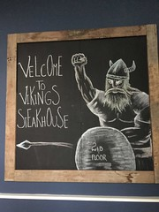 Viking Steakhouse (sfPhotocraft) Tags: ireland dublin sign viking blackboard steakhouse 2015 2ndfloor vikingsteakhouse