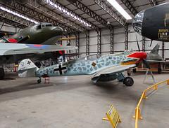 BAPC.240 Messerschmitt BF.109G6 of the Luftwaffe (SteveDHall) Tags: york museum aircraft aviation yorkshire wwii yam worldwarii german ww2 preserved bf109 airmuseum worldwar2 messerschmitt luftwaffe elvington yorkshireairmuseum bf109g messerschmittbf109g6 bapc240