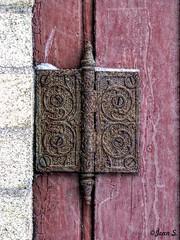 ... (Jean S..) Tags: brick door outdoor old red rust rusty