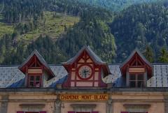 Chamonix Hdr (tucsontec) Tags: hdr chamonix montblanc hs40sx canon travel mountain berg bahnhof uhr