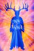 The Pagan. (FadeToBlackLP) Tags: lightpainting lightart diorama difuse difused pagan antlers figure lightpaintingbrushes orange pink blue beams light tamron 1750mm theknightswhosayni eckyeckyeckyfataaaang