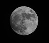 Almost a full moon (anyusernamewouldbenice) Tags: moon blackandwhite bw celestial nature december space crater moonlight orbit heavens astronomy satellite