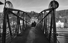 there was of course also a MOZART bridge (lunaryuna) Tags: austria salzburg urban city bridge river pedestrianbridge mozartsteig rivercrossing people homourbe urbanconstruct walkinthecity blackwhite bw monochrome lunaryuna architecture historicarchitecture